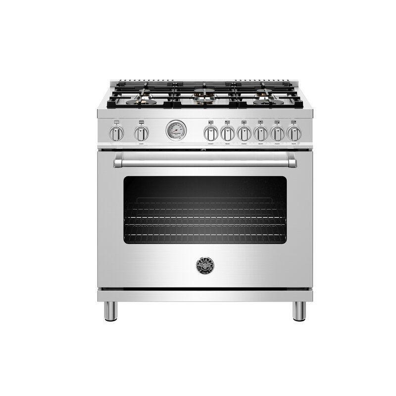 """Bertazzoni Master Series 36"""" Free-standing Gas Range with Griddle"""