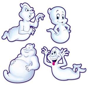 4 Piece Halloween Ghost Cutout Set