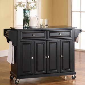 black kitchen islands carts you ll wayfair