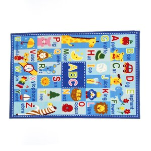 Fun Time Letters And Names Area Rug