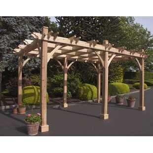 Breeze 16 Ft. W x 10 Ft. D Solid Wood Pergola by Outdoor Living Today