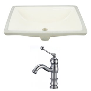 Look for CUPC Ceramic Rectangular Undermount Bathroom Sink with Faucet and Overflow ByRoyal Purple Bath Kitchen