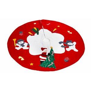 santa and frosty friends christmas tree skirt - Disney Christmas Tree Skirt