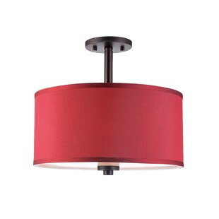 3-Light Semi Flush Mount by Wo..