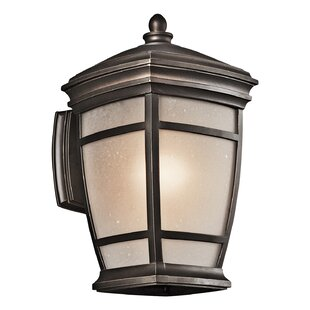 Loon Peak Cocao 1-Light Outdoor Wall Lantern