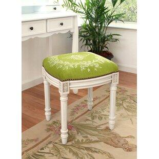 Clematite Napoleon Bee Linen Upholstered Vanity Stool