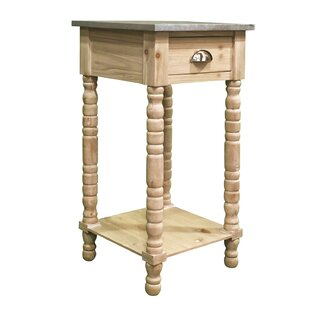 Audubon Pine Wood End Table By Highland Dunes