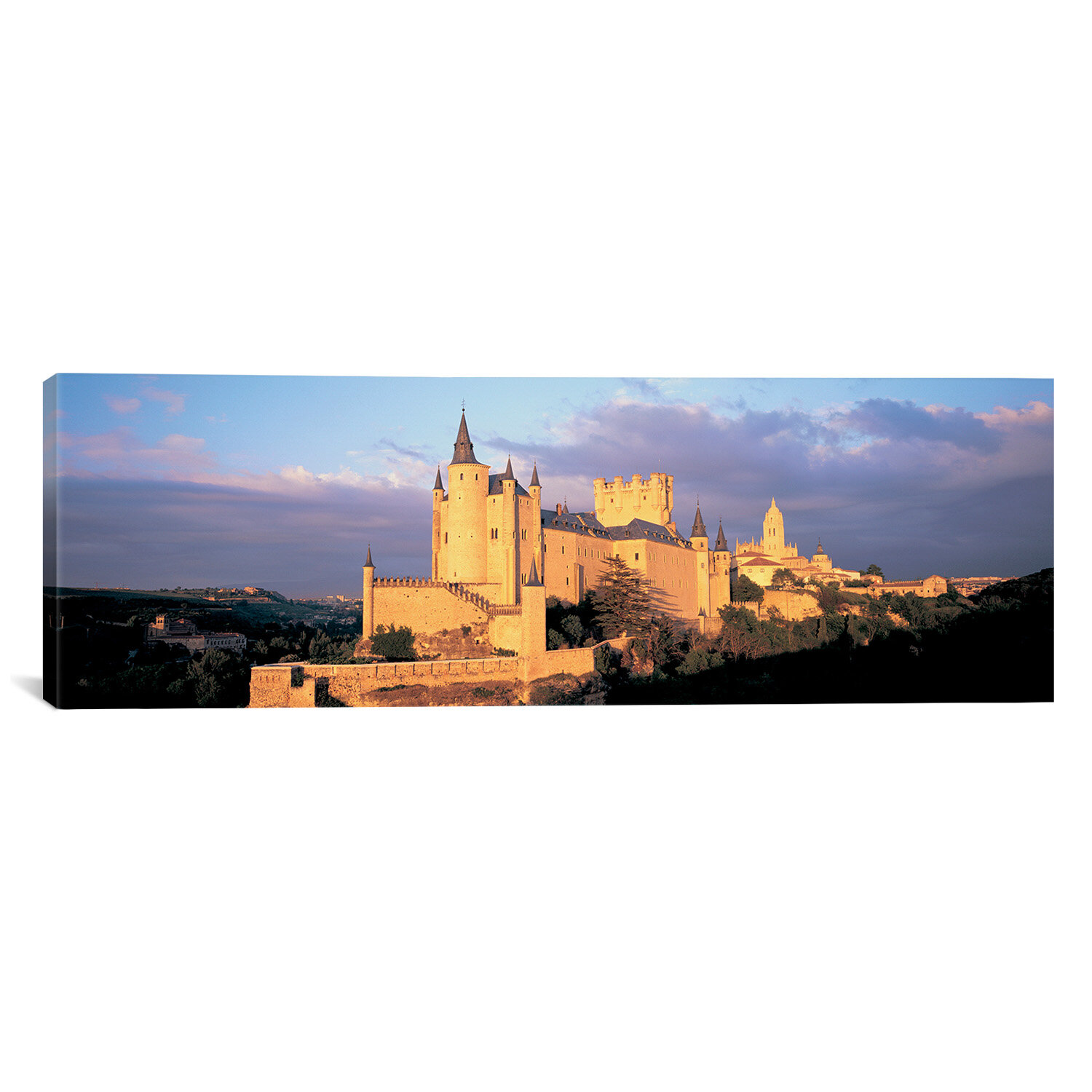 Ebern Designs Panoramic Alcazar Castle Old Castile Segovia Spain Photographic Print On Canvas Wayfair