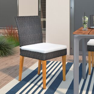 Chandrine Patio Dining Chair with Cushion (Set of 2)