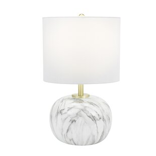 Dowling Faux Marble 18 Table Lamp