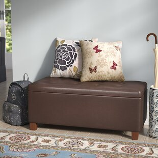 Andover Mills Tamesbury Faux Leather Storage Bench