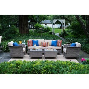 CO9 Design Addison Teak Deep Seating Group with Cushions