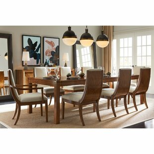 Panavista 9 Piece Solid Wood Dining Set Stanley Furniture