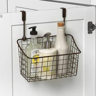 Spectrum Diversified Towel Bar and Basket Cabinet Door Organizer