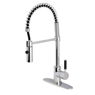 Kingston Brass Kaiser Single Handle Pull Down Kitchen Faucet