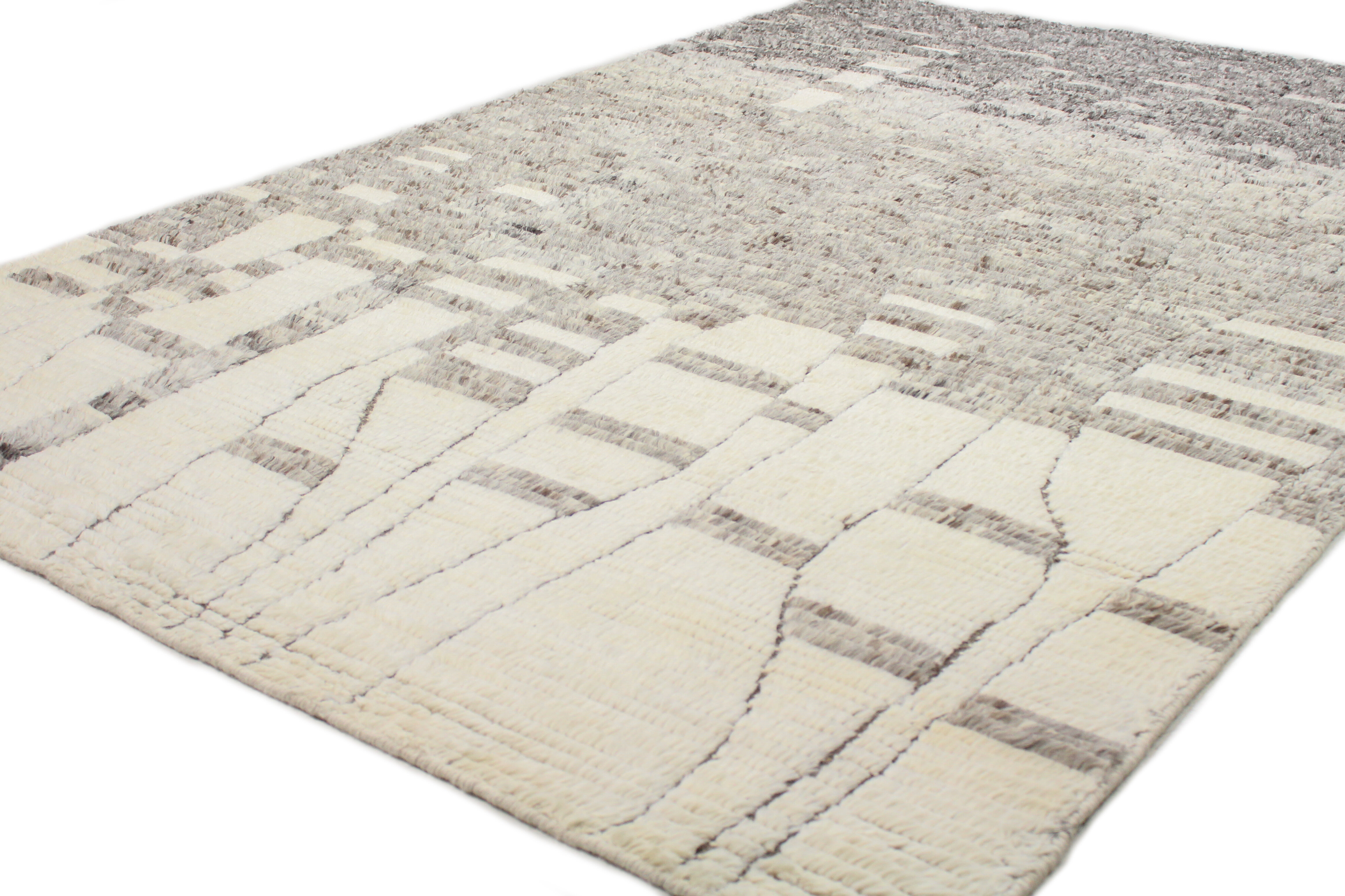 Bashian Rugs Marrakesh Abstract Hand Knotted Wool Ivory Gray Area Rug Reviews Perigold