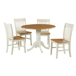 Shorewood 5 Piece Extendable Solid Wood Dining Set by August Grove #1