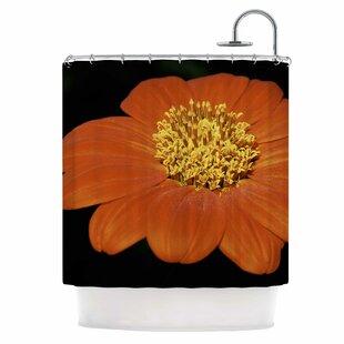 Wide Flower Shower Curtain