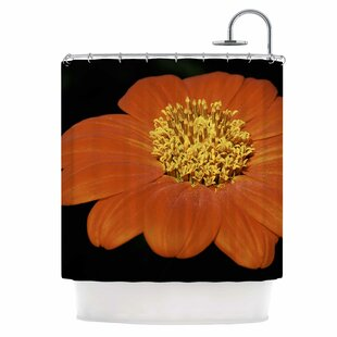 Wide Flower Single Shower Curtain