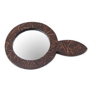Bloomsbury Market Carlton Coco Reflection Coconut Shell Hand Accent Mirror