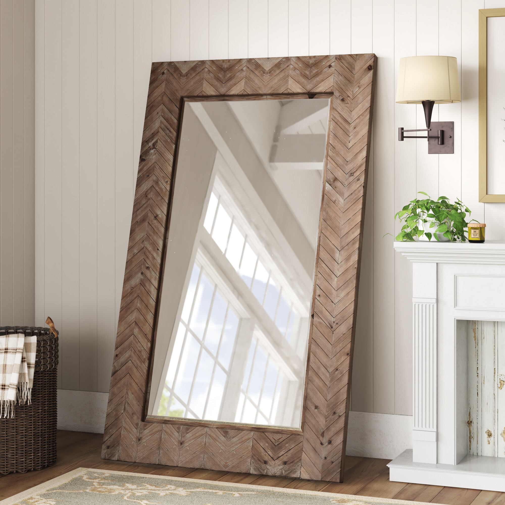 Coastal Beveled Full Length Mirror