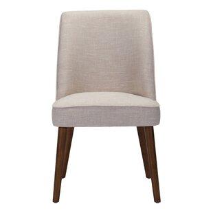Derek Side Chair in Linen Blend - Beige (Set of 2) by Corrigan Studio