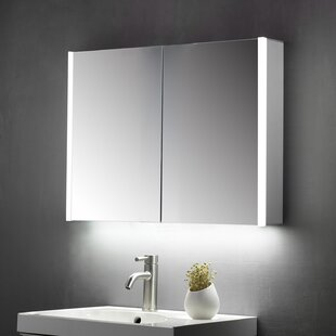Crumb 70cm H X 60cm W Wall Mounted Mirror Cabinet With LED Lighting By Belfry Bathroom