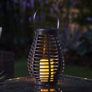 Clea Solar Powered Outdoor Rattan Solar Lantern With Electric Candle By Sol 72 Outdoor
