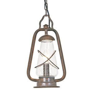 Miners 1 Light Outdoor Hanging Lantern