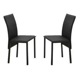 Poundex Bobkona Limbra Parsons Chair (Set of 2)