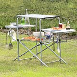 Staab BBQ Prep Table Stainless Steel by Rebrilliant