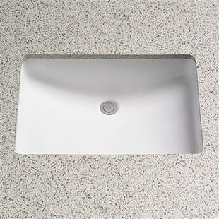 Order Augusta Vitreous China Rectangular Undermount Bathroom Sink with Overflow By Toto