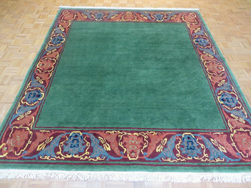 One Of A Kind Padang Sidempuan Tufenkian Hand Knotted Wool Green Area