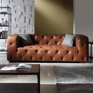 Hamlin Modern Leather Sofa