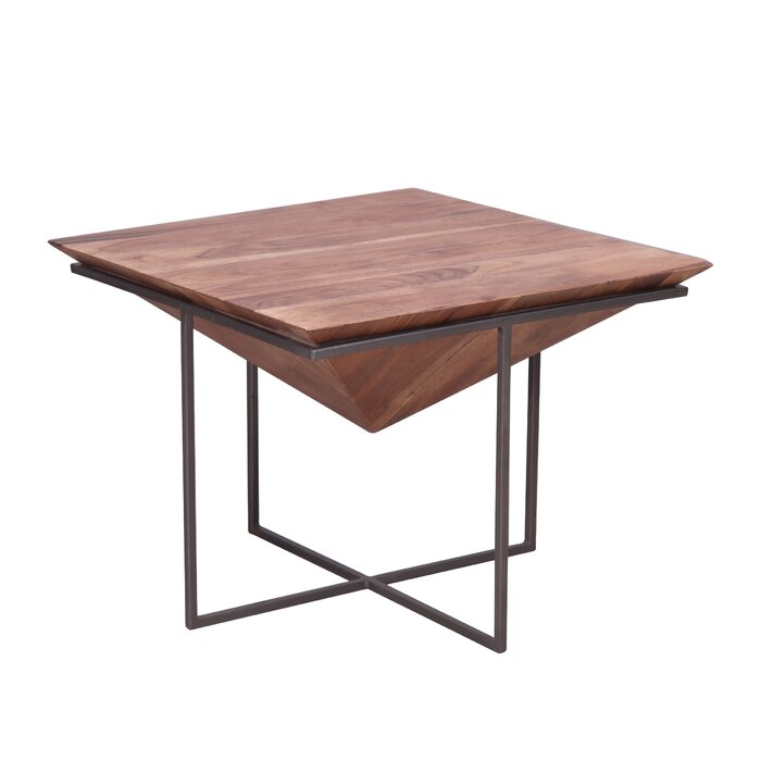 Risher Wood And Iron Coffee Table