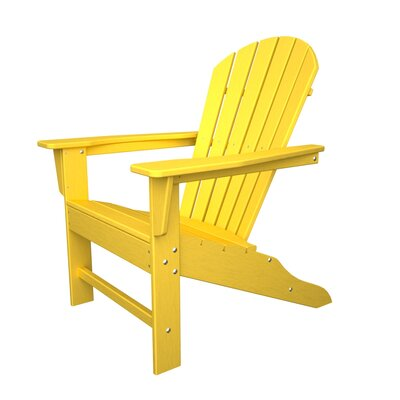 Surprising Polywood South Beach Plastic Adirondack Chair Color Lemon Gamerscity Chair Design For Home Gamerscityorg