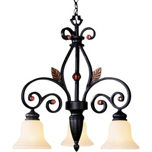 Browns Traditional 3-Light Shaded Chandelier