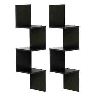 Lansdale 3 Shelf Wall Mount Corner Shelf Set (Set of 2)