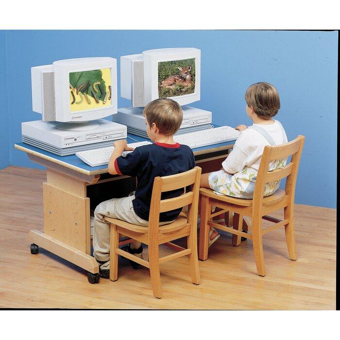 Magnificent Wood Adjustable Height Student Computer Desk Cjindustries Chair Design For Home Cjindustriesco