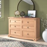 Caudill Wood 6 Drawer Double Dresser by Gracie Oaks