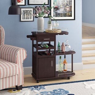 Meidinger Bar Cart in Espresso by Red Barrel Studio