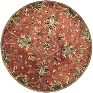 Statler Sienna Agra Hand-Woven Wool Area Rug by Charlton Home