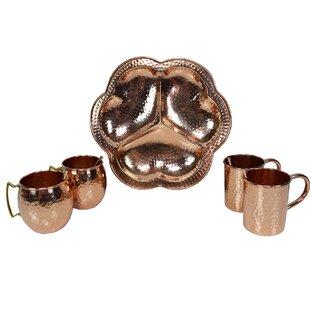 Wilma Handcrafted 5 Piece Copper Assorted Glassware Set