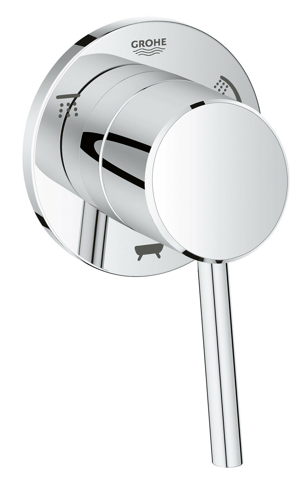 Grohe Concetto Single Handle 3-Way Diverter Shower Faucet Trim Only ...