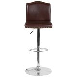 Bellagio Swivel Adjustable Height Bar Stool by Winston Porter