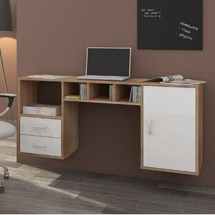 Adora Floating Desk By 17 Stories