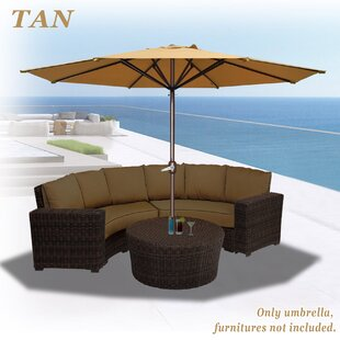 Darby Home Co Rosaura Octagonal Solid Outdoor Garden Parasol Patio Market Umbrella