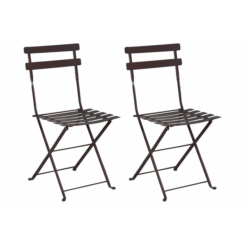 French European Cafe Folding Patio Dining Chair