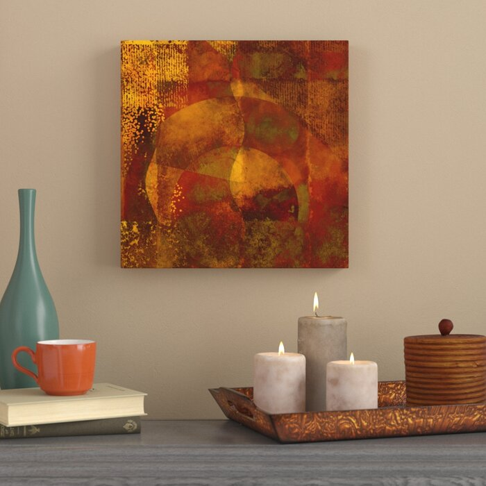 Steal Away Abstract Earth Tone Contemporary Modern Graphic Art Print On Canvas