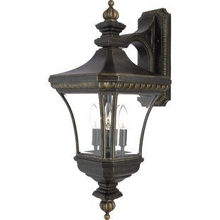 Astoria Grand Falnaglass 3-Light Outdoor Wall Lantern